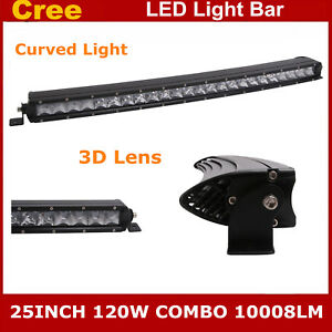 25inch 120w Curved Ford Led Light Bar Combo Truck 4wd Ute Single Row Slim 24 26