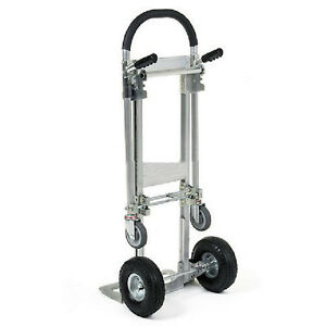 Dolly Hand Truck Convertible To Platform Aluminum 500 Lb Capacity 52h G P