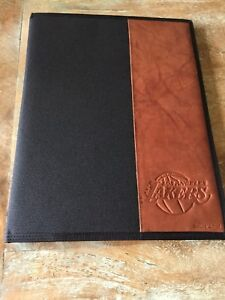 Vintage Lakers Basketball Leather Accent Business Pad Portfolio Legal Pad Holder