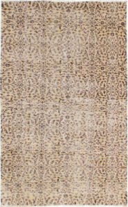 Hand Knotted Turkish Carpet 4 1 X 6 6 Melis Vintage Traditional Wool Rug