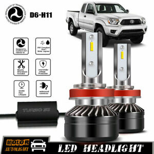 Led Headlight Hid White Driving Light Bulb For Toyota Tacoma 2012 2019 Low Beam