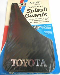 Nos 2 Vintage Classic Black Toyota Custom Sport Splash Guards