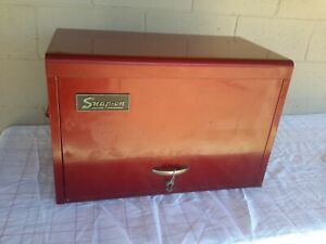Vintage 1974 Snap On Tools 9 Drawer Tool Box Top Chest Red Kra59 W 1 Key