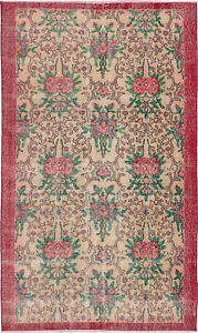 Hand Knotted Turkish 3 8 X 6 4 Melis Vintage Wool Rug Discounted