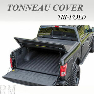 Lock Tri Fold Soft Tonneau Cover Fit 2005 2019 Toyota Tacoma 5ft 60in Short Bed
