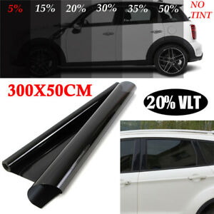 Uncut Roll Window Tint Film 20 Vlt 10ft Feet Car Home Office Glass