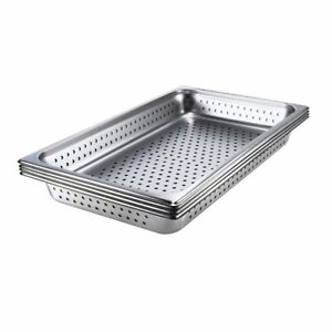Browne Foodservice 578014 Full size X 4 D Perforated Pan