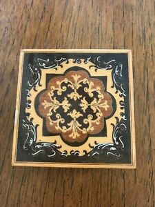 Vintage Italian Marquetry Inlaid Wooden Box C1950