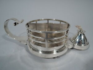 Victorian Lighter Antique Cigar Cigarette Cup English Sterling Silver 1883