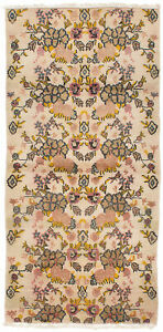 Hand Knotted Turkish Carpet 3 3 X 6 10 Melis Vintage Traditional Wool Rug
