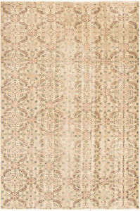 Hand Knotted Turkish Carpet 5 9 X 8 8 Melis Vintage Traditional Wool Rug