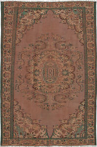 Hand Knotted Turkish 5 9 X 8 8 Melis Vintage Wool Rug Discounted