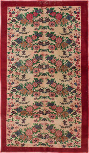 Hand Knotted Turkish 3 8 X 6 9 Melis Vintage Wool Rug Discounted