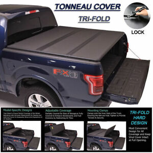 Fits 2002 2008 Dodge Ram 1500 Tri Fold Solid Hard Tonneau Cover 6 5ft 78 Bed