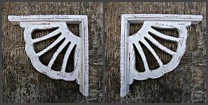 Antique Victorian Wood Corbel Shabby Chic Rustic Farmhouse Decor 1 X Pair