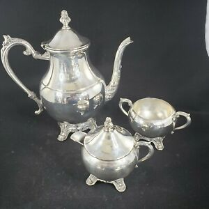 Silverplated Vintage Tea Set Fb Rogers Silver Co