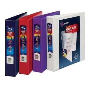 Various Sizes Avery 3 ring Binder Inch Lot Pack Office View Heavy Duty School D