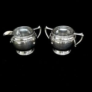 M Fred Hirsch Co Sterling Silver Sugar Creamer Set 717 208 Grams 7 34 Oz