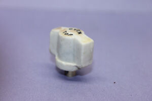 Vintage White Porcelain Oven Top Twist Turn Rotary Switch Knob Steampunk