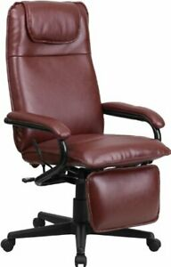 Flash Furniture High Back Leather Executive Reclining Swivel Chair With Arms
