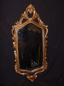 Labarge Italian Gilt Ornate Beveled Glass Mirror 1417 La Barge 30 1 4 X 14