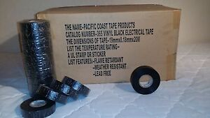 pack Of 120 Electrical Tape Black 3 4 By 66ft