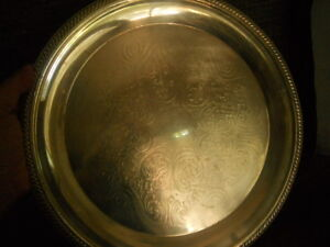 Vintage Fb Rogers Silver Co Round Silverplate Platter