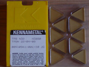 10 Pcs Tpg 432 Kennametal Kc850 Carbide Inserts
