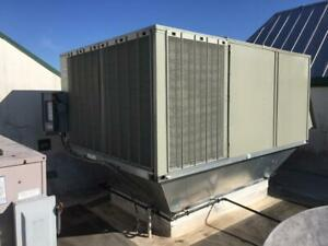 Trane Voyager Rooftop Commercial Forced Air Furnace W cooling Unit Hvac 12 5 Ton