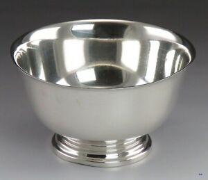 Classic American Colonial Paul Revere Form Cartier Sterling Silver Bowl