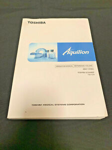 Toshiba Aquilion Ct Scanner Tsx 101a Operation Manual reference Volume