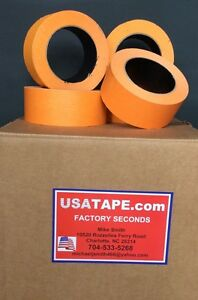 32 Rolls 1 1 2 X 60 Yrds Orange Automotive Painters Masking Tape Body Shop Use