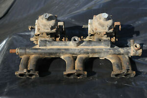 Triumph Early Gt6 Intake Manifold And Stromberg Carburetors