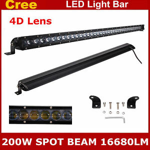 41 inch 200w 4d Cree Led Single Row Light Bar Spot Truck For Jeep Ford 4wd 40