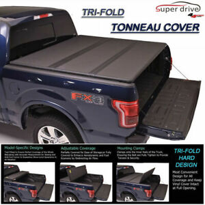 Fits 1999 2019 Ford F250 F350 F450 Tri Fold Solid Hard Tonneau Cover 6 5ft Bed