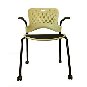 Herman Miller Caper Stacking Chair By Jeff Weber Modern Comfortable Office Green