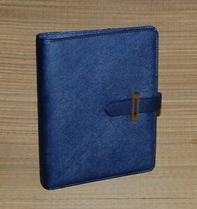 Lucca Classic Franklin Covey Planner Blue Etched Faux Leather Tab 1 25 Rings