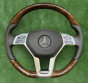 Amg Package Mercedes Benz Steering Wheel Wood Leather Leather Airag