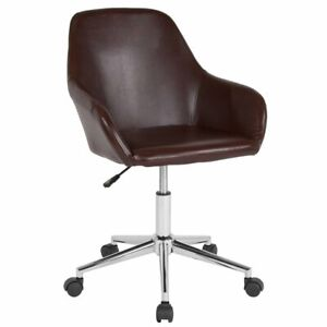 Flash Furniture Cortana Home Mid Back Leather Swivel Office Chair