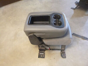 Chevy Silverado Gm Sierra Jump Seat Center Console Grey Oem Open Top 07 13