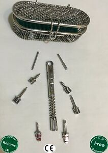 Universal Dental Implant Torque Wrench Ratchet 10 40 Ncm With Hex Drivers 1 25mm