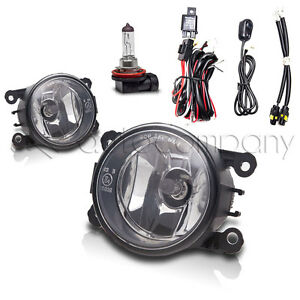For 2006 2008 Mitsubishi Endeavor Fog Lights Front Lamps W wiring Kit Clear