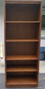 Mid Century Drexel Newport Dark Wood Tone Walnut Bookshelf Unit Pu Fla