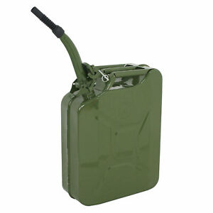 5 Gallon Military Jeep Style Metal Gas Gasoline Fuel Tank 20l Jerry Can Green