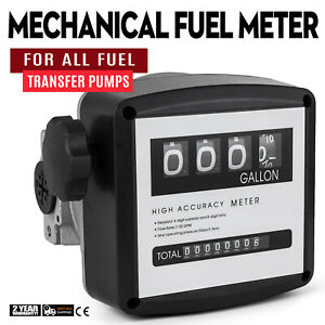 1 Mechanical Fuel Meter For All Fuel Transfer Pumps 5 30 Gpm 20 120l min Black