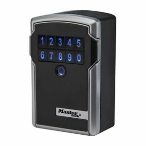 Master Lock 5441d 3 1 4 inch Wide Bluetooth Electronic Wall Mount Lock Box