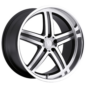 Mandrus Mannheim 18x8 5 32 Gunmetal Mirror Cut Lip Wheel Rim 5x112