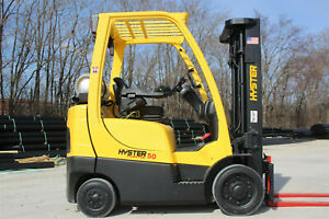 2013 Hyster S50ft 5000lb Capacity Forklift Triple Stage Mast Hi Lo Lift Truck