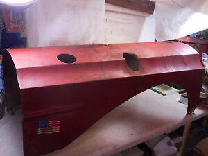 Massey Harris 44 Hood Straight Original No Rust Holes Mounts Rare Mh