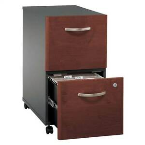 Hansen Portable Cherry Stained 2 Drawer File Cabinet Series C id 2485